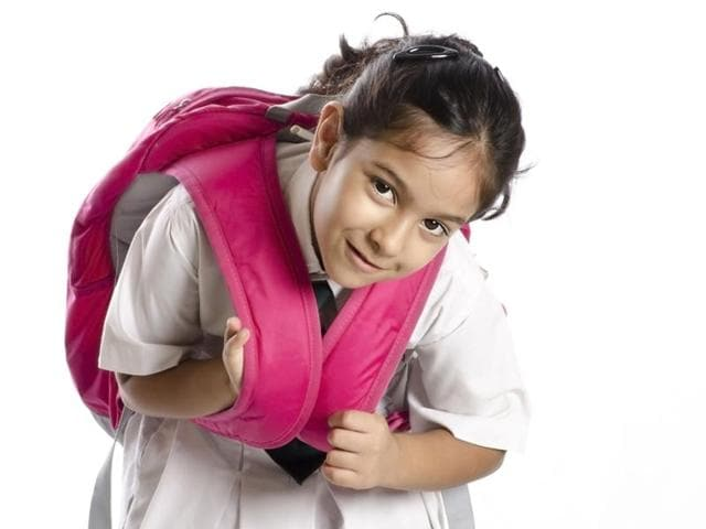 The study found that over 88 per cent of children in the age group of 7-13 years carry more than 45 per cent of their weight on their backs.