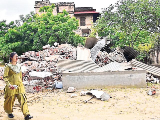 The JDA had demolished enchroachments on Rajmahal Palace Hotal land on August 24.
