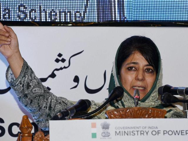 Jammu & Kashmir chief minister Mehbooba Mufti at the launch of LED