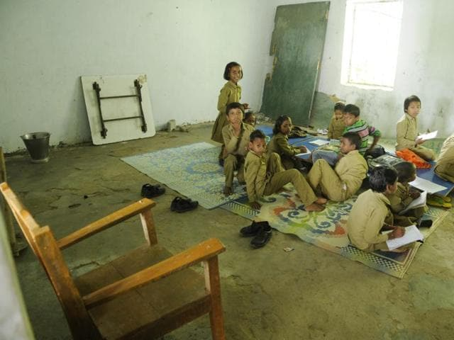 A  class without a teacher in Lucknow
