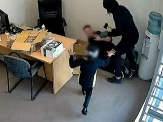 Sarah Patel was captured on CCTV trying to defend the staff member when a group of six armed men broke into the family's electronics shop in Auckland.