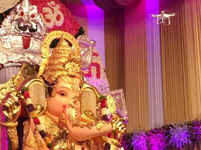 Celebrating its 62nd year, the mandal known for its 'Gold Ganesh', will be under the surveillance of 48 CCTV cameras apart from the drone