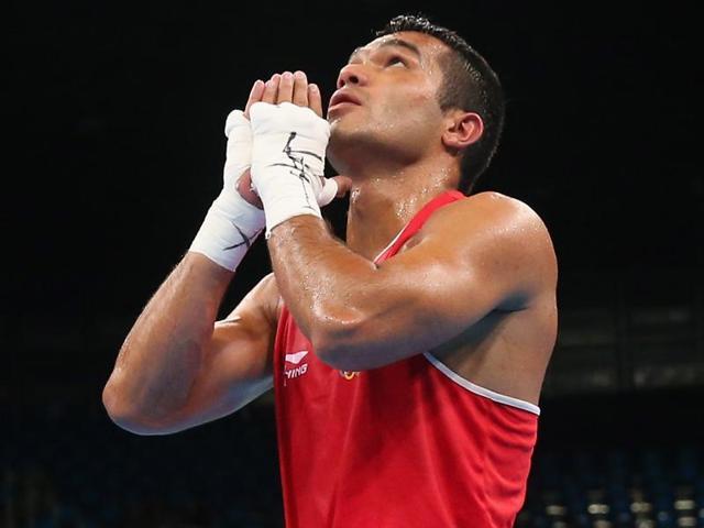 Vikas Krishan lost in the quarters to eventual silver medallist Melikuziev Bektemir.