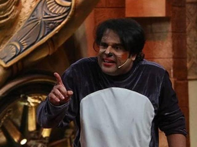Krushna Abhishek on the sets of Comedy Nights Bachao.
