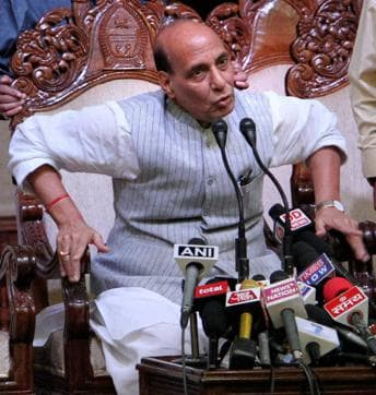 Home minister Rajnath Singh reportedly met President Pranab Mukherjee on Wednesday.