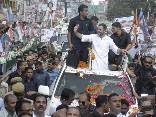 Rahul Gandhi's road show,Deoria,Vijay Mallya