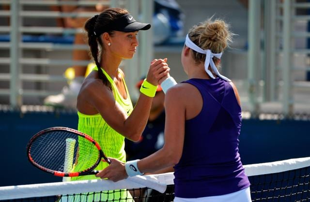 The alert came after Swiss 15th seed Timea Bacsinszky's 6-1, 6-1 victory over Russia's Vitalia Diatchenko, left, on August 30.