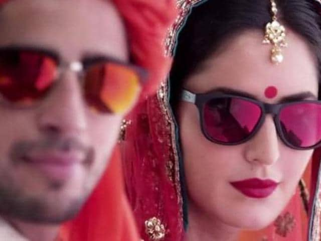 Kala chashma was posted online on July 26 on YouTube, and its video features Katrina and Sidharth grooving to the peppy number. (YouTube)