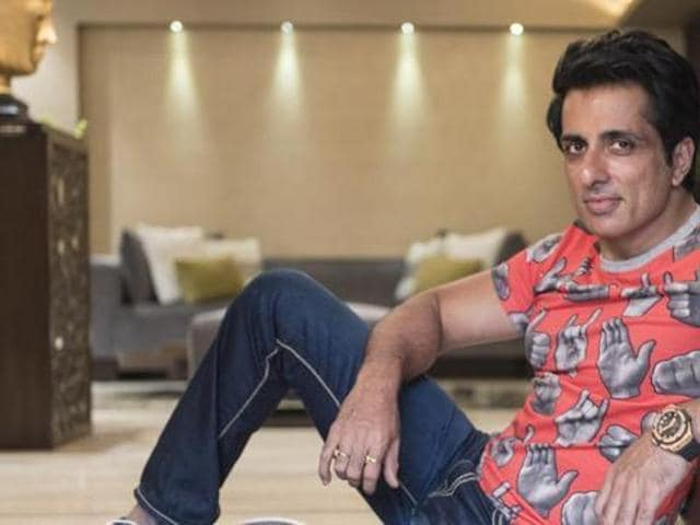 Actor Sonu Sood at his Andheri residence (Photo: Aalok Soni/HT)