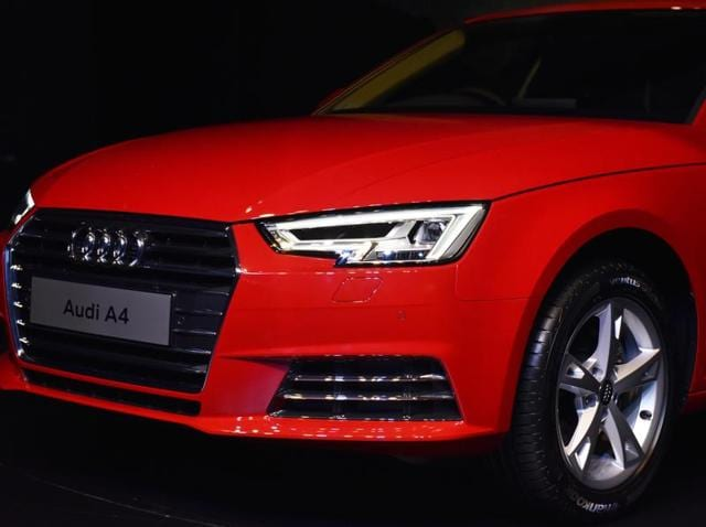 The all - new Audi A4 was launched in New Delhi on Thursday. (Mohd Zakir/HT Photo)