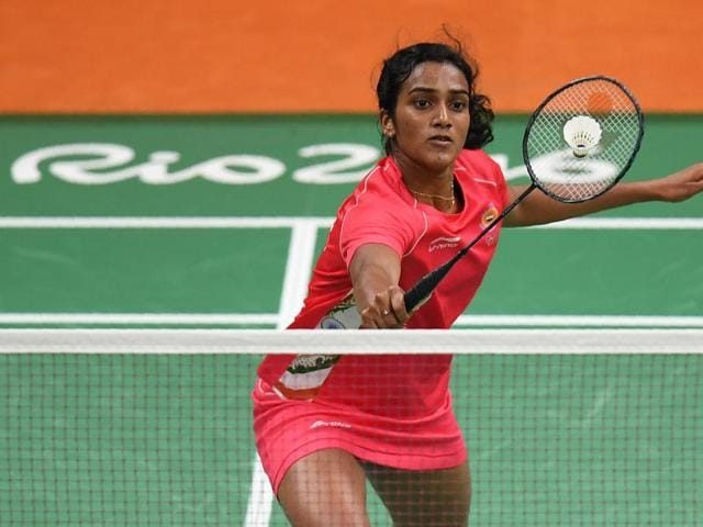 PVSindhu put her jump smash to devastating use at the Rio Olympics in Brazil.