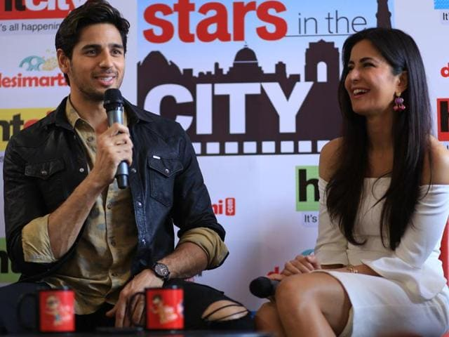 Baar Baar Dekho starcast Sidharth Malhotra and Katrina Kaif  react at HTCity's Stars in the City session on Thursday.