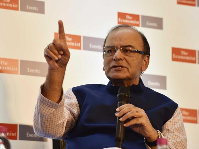 File photo of Union finance minister Arun Jaitley. The minister announced a special financial package for Andhra Pradesh late evening on Sep 7, 2016.
