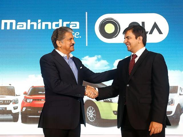 Mahindra,Ola,Anand Mahindra