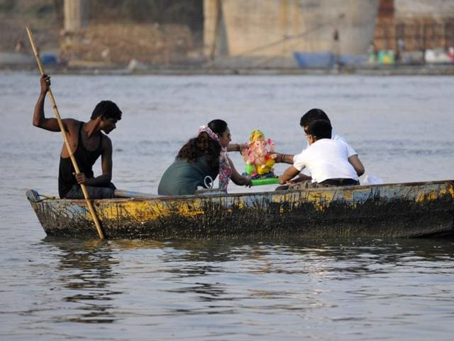 At least 12 devotees fell into the Tungabhadra river on Wednesday when a boat carrying a group of 30-35 youths capsized in the river.