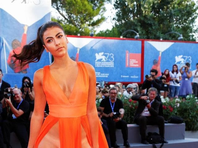 Thigh high slit,Naked dress,Venice film festival