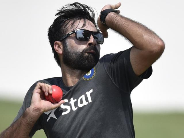 India Blue player Parvez Rasool during the Practice session at Saheed Vijay Pathik Sports Complex.