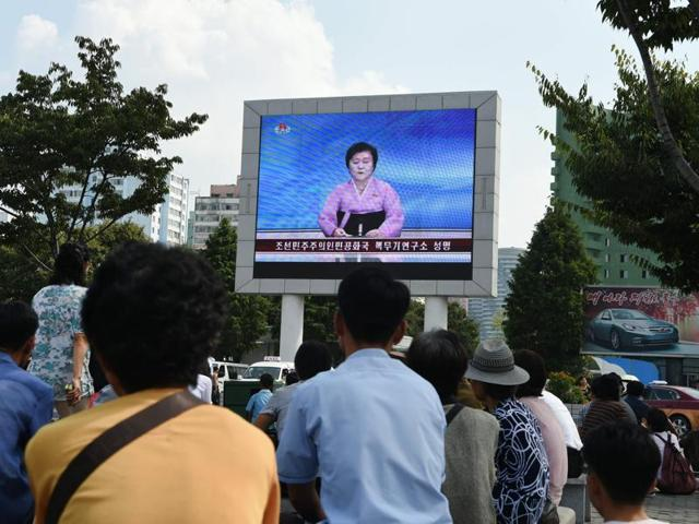 This screen grab taken from North Korean broadcaster KCTV in Pyongyang shows presenter Ri Chun-Hee officially announcing that the country successfully tested a nuclear warhead.