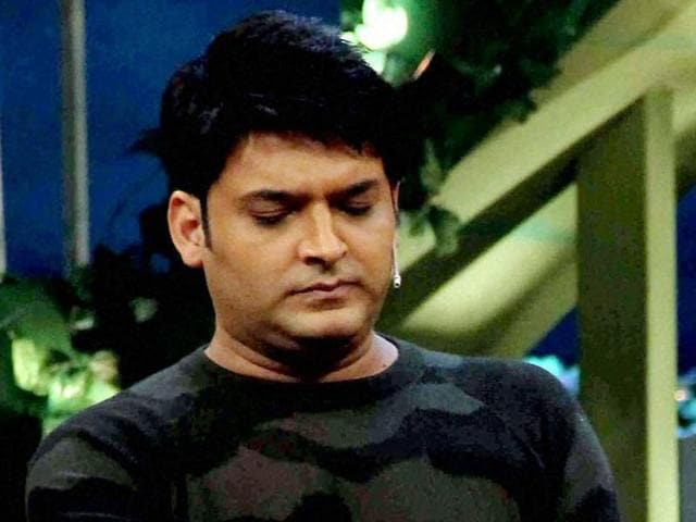 Comedian Kapil Sharma on the sets of The Kapil Sharma Show in Mumbai.