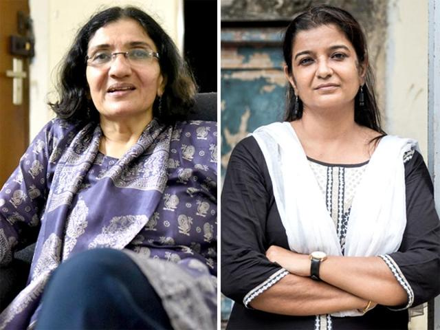 Zakia Soman (left) and Noorjehan Safia Niaz are founders of the Bharatiya Muslim Mahila Andolan (BMMA), an organisation that is fighting for Muslim women's rights. The BMMA wants triple talaq and polygamy to be banned, and Muslim personal laws to be codified.(Saumya Khandelwal, Aalok Soni/HT)