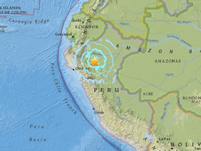 According to the USGS map, the quake epicenter is located on the eastern slope of the Andes, where the mountain range meets the Amazon rainforest.