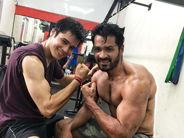 Actors Mrunal Jain and Aanshuman Malhotra have a great time during workouts.