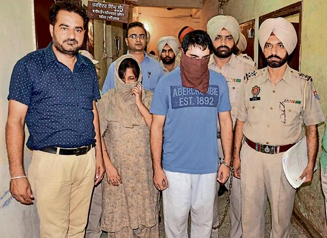 The murder accused in police custody in Amritsar on Friday.