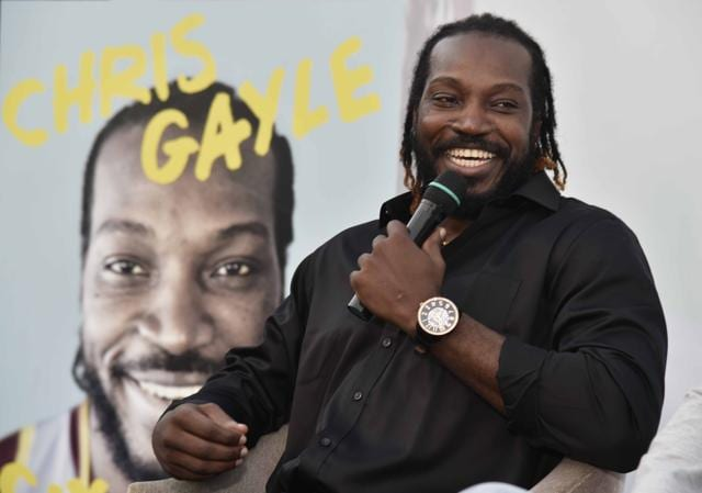 Chris Gayle during the launch of his autobiography.