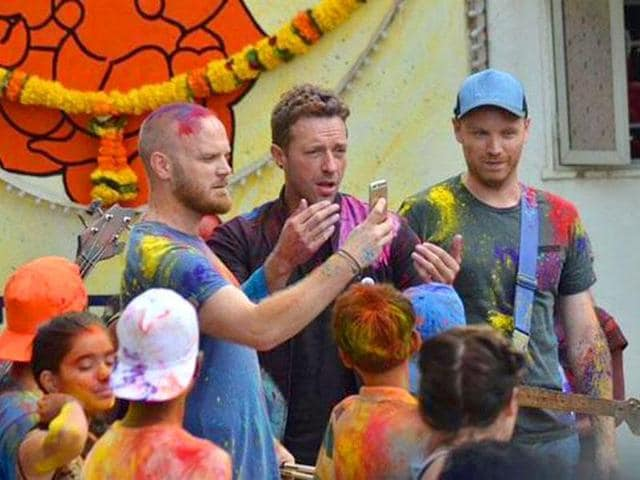 Coldplay was in Mumbai sometime back for their new music video, Hymn For The Weekend.