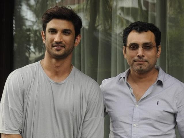 Mumbai: Actor Sushant Singh Rajput and filmmaker Neeraj Pandey during a press conference to promote their upcoming film