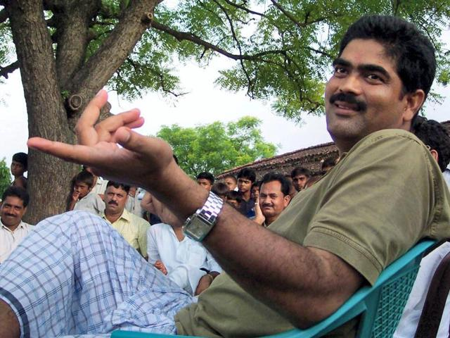 A file photo of RJD MP Mohammad Shahabuddin who has walked out of jail on Saturday.