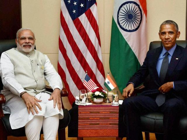 Prime minister Narendra Modi and US President Barack Obama during a bilateral meeting in Vientiane, Laos on Thursday.
