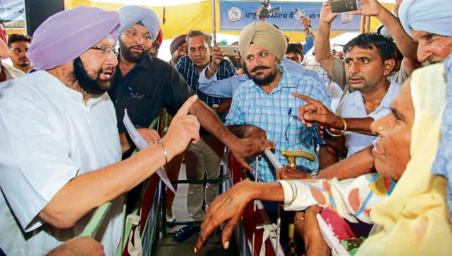 Punjab Pradesh Congress Committee president Capt Amarinder Singh during the 'Coffee with Captain' programme in Sangrur on Friday.