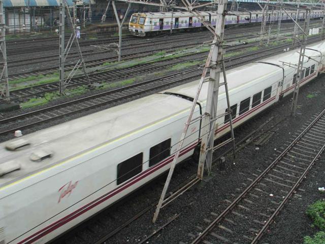 A Spanish Talgo train arrives in Mumbai on August 2.