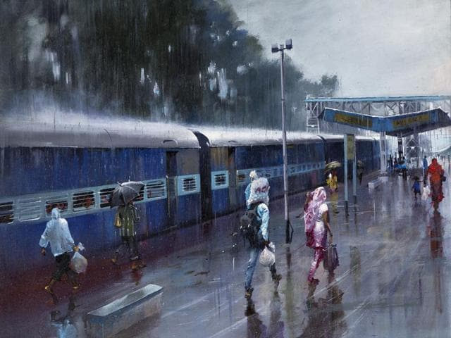 A painting by Bijay Biswaal, a TTE in central railways.