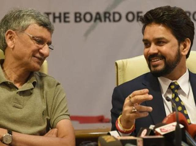 Shirke, left, said there was a campaign to sideline BCCI from the decision-making process in the ICC after finding no representation in some important committees, including finance.