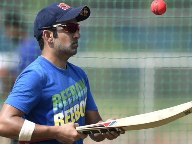 Gautam Gambhir in action during the Duleep Trophy. His excellent current form keeps him in the frame for selection for the home Test series against New Zealand starting later this month.
