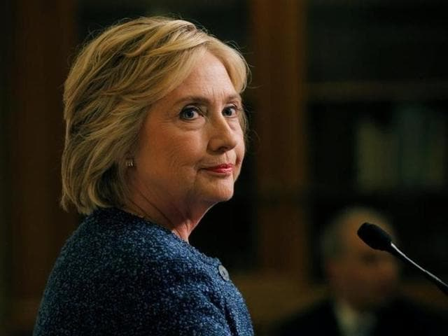 US Democratic presidential candidate Hillary Clinton speaks at an event in New York.