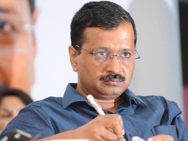 Delhi CM and AAP chief Arvind Kejriwal during a meet with party leaders and eminent persons in Patiala on Saturday.