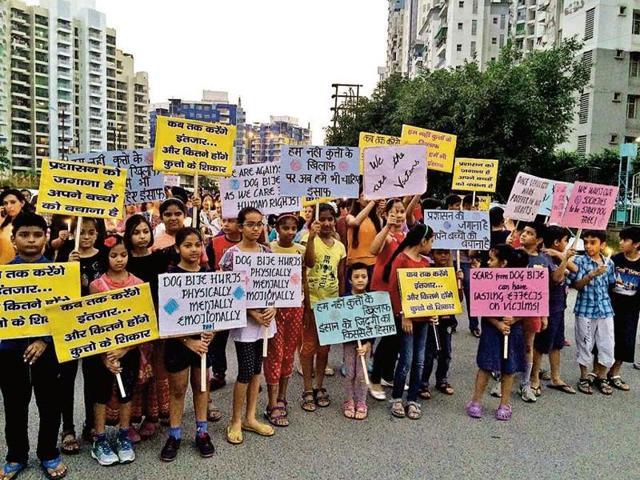 Aditya Mega city,Stray dog menace,Indirapuram