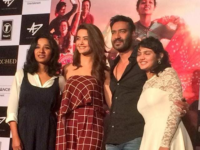 Ajay Devgn with the cast of Parched.