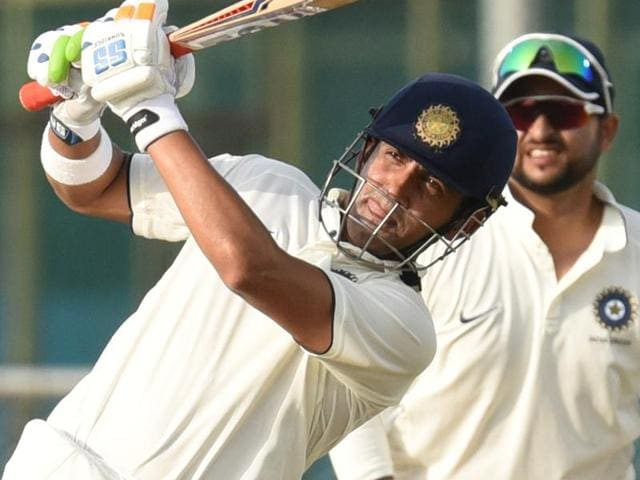 India Blue Captain Gautam Gambhir in action against India Green during the Duleep Trophy.