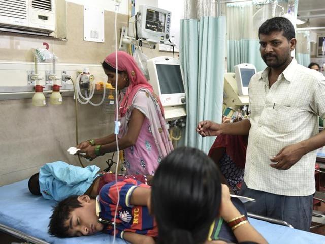 Dengue and chikungunya patients at paediatric ward in AIIMS hospital in Delhi.