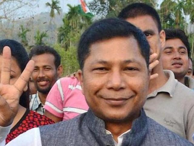 File photo of Meghalaya chief minister Mukul Sangma . Three opposition parties moved a no-confidence motion against Sangma's government on Sep 12, 2016.