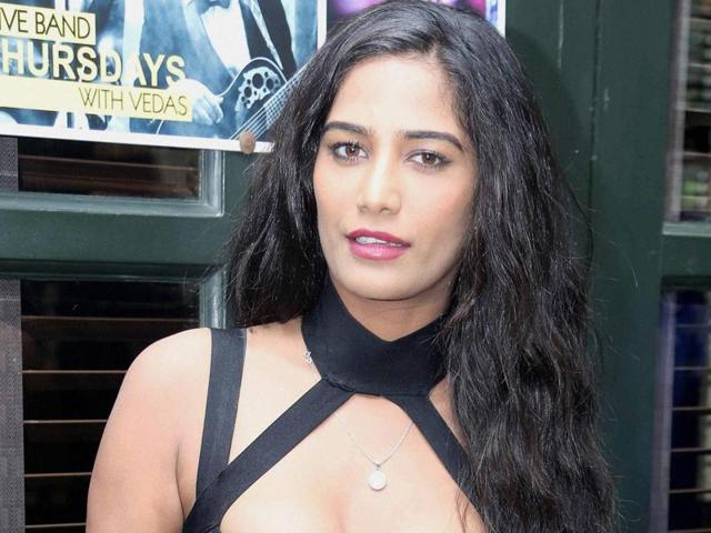 Bollywood actress Poonam Pandey during the trailer launch of her upcoming  film in New Delhi on Friday.