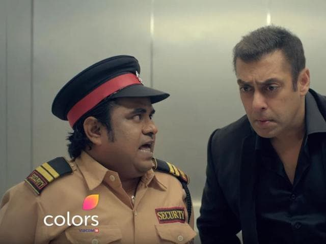 Salman Khan in a still from the latest promo of Bigg Boss 10.