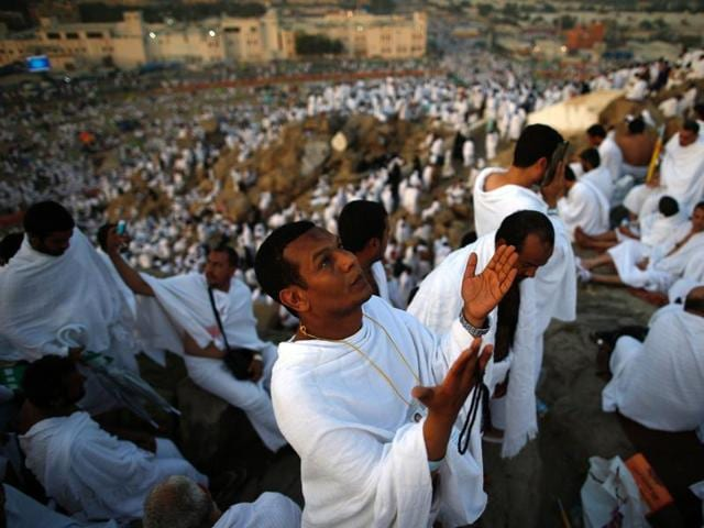 Nearly 2 million pilgrims ascended Mount Arafat at the climax of the Haj.