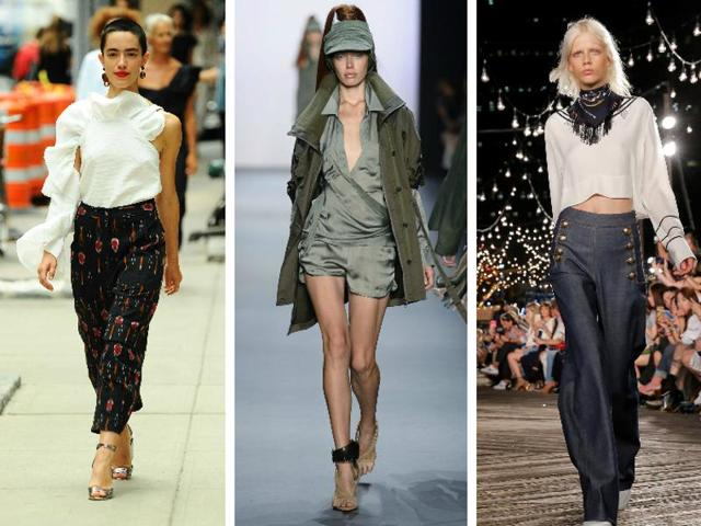 From satin rompers to sailor pants - check out the stand-out trends from New York Fashion Week.
