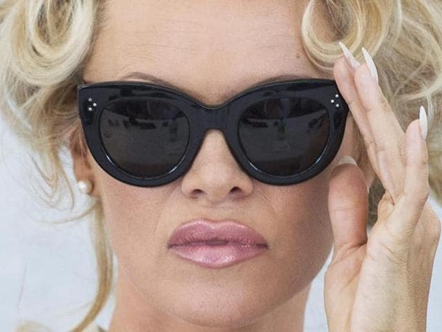 Pamela Anderson's expression says it all.
