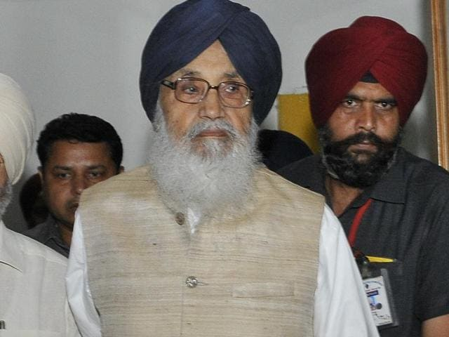 Punjab CM Parkash Singh Badal at the monsoon session of the Punjab assembly in Chandigarh on Monday.